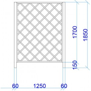 Vīteņaugu režģis 1850x1250mm